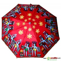 Patachitra Umbrella red