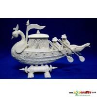 """Shola pith craft - Peacock Boat 9"""""""