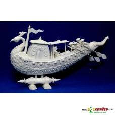 """Shola pith craft - Peacock Boat 12"""""""