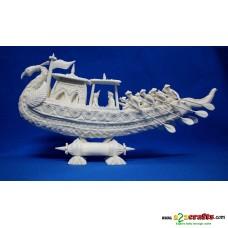 """Shola pith craft - Peacock Boat 18"""""""