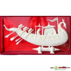 """Shola pith craft - Peacock Boat 16"""""""