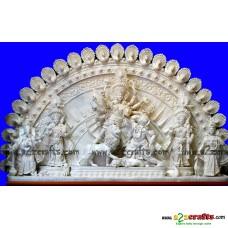 Shola  pith craft -Durga Family