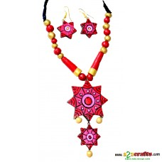 Terracotta Jewellery -star pink