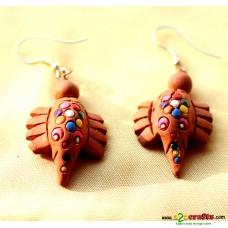Terracotta Earrings Elephant
