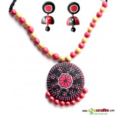 Terracotta Jewellery Black with jhumka