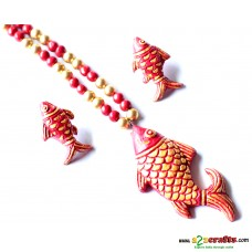 Exclusive Terracotta Jewelry , Red Fish