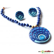Exclusive Terracotta Jewelry , Blue