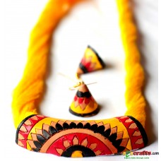 Exclusive Terracotta Jewelry , YELLOW