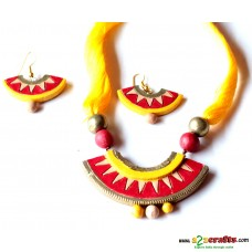 Exclusive Terracotta Jewelry ,Yellow
