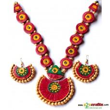 Terracotta Jewellery , maroon