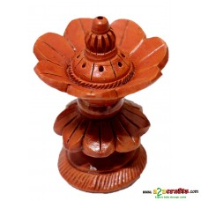 Teracotta incense stick holder - flower