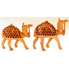 Set of 2 Camels -wooden, handcrafted