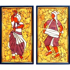 Manipuri Dance-Wooden Collage painting